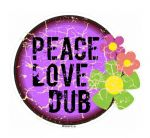 Distressed Aged PEACE LOVE DUB Design For Rat Look VW Vinyl Car sticker decal 100x90mm